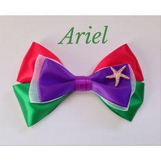 Ariel/Little Mermaid Inspired Hair Bow ($6.75) ❤ liked on Polyvore featuring accessories, hair accessories, bows, hair, hair stuff, alligator hair clips, hair bows, hair clip accessories, ribbon hair clips and bow hair accessories