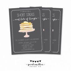 Printable Invitation Birthday breakfast party door PrintSmitten