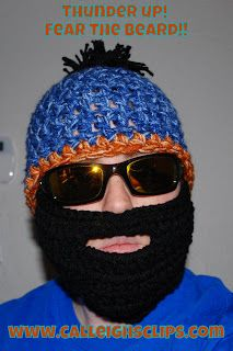 Calleigh's Clips & Crochet Creations: Free Pattern - Fear The Beard!