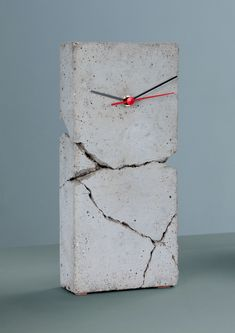 Concrete Clock--(Please Follow (2) Design-Modern-Furniture-Objects For New Pins)