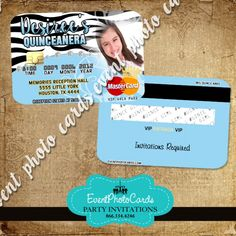 Find This Pin And More On Invitations That Look Like Credit Cards