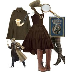 Sherlock Holmes for women. This would make an excellent costume next year!!