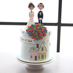 Up wedding cake #mutludukkan #sekerhamuru #butikpasta #sugarart