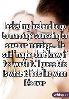 Whisper App. Confessions from women trying to save their marriages.
