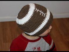 fc3dce7a540 Crochet Football Hat Pattern Tutorial - Right Handed - YouTube Crochet  Football Hat