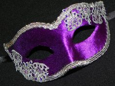 Masquerade Mask in Purple and Silver with by TheCraftyChemist07, $27.00