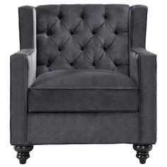 Phoebe Velvet Tufted Arm Chair Reviews Joss Main Couch