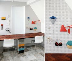 Studio Swine is a collaboration between Azusa Murakami and Alexander Groves. Image via Bloesem Blog. LOVE PEGBOARD