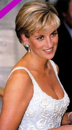 princess diana's hairstyles | Diana, Princess of Wales and then First Lady Hillary Clinton