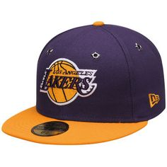 best cheap d8f53 e53e9 Los Angeles Lakers New Era Logo Premier 59FIFTY Fitted Hat - Purple Gold