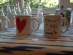 Tazas personalizadas del corazón y MyMug