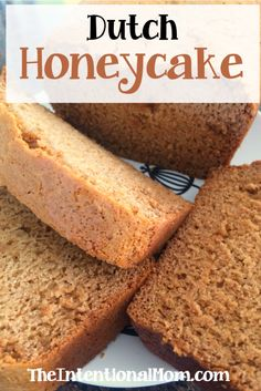Family Favorite: Simple Dutch Honeycake I am Dutch as both sets of my great-grandparents were born in the Netherlands. This is a tradition in our family, and it is so easy and frugal to make! Honey Cake Recipe Easy, Honey Recipes, Easy Cake Recipes, Baking Recipes, Dessert Recipes, Amish Recipes, Jewish Honey Cake Recipe, Dutch Desserts, Just Desserts