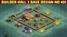 Clash of Clans | Builder Hall 3 Base Design | Layout 01 | With Replays