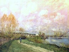 Summer at Bougival, 1876. By Alfred Sisley.