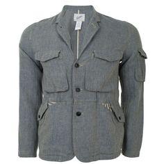 Four Pocket Herringbone Blazer Jacket