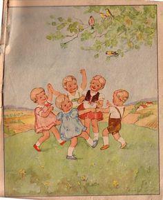 Bilderbuch um 1940 - Schildkröt - Puppenschar- www.eichwaelder.de