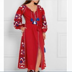 Мори девушка осень весна Лето чешские вышивка платье с длинным рукавом дизайнер этническая кисти платья фестиваль одеяние платье vestidos(China (Mainland))