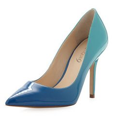 Ombre blue pumps! Cute comfy and always gets compliments