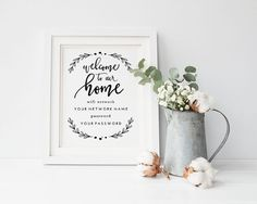 Printable Wifi Password Welcome to Our Home  by tumbalinastudio