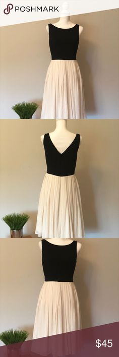 Talbots Dress New without tags. Black and cream. Elegant. With proper accessories, it's perfect for graduations or weddings. Talbots Dresses Midi