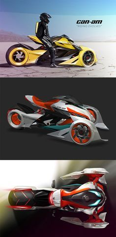 'Can-Am Super Spyder' concept addresses the regular Spyder's major setback of being too wide to turn sharply or navigate through traffic... READ MORE at Yanko Design !