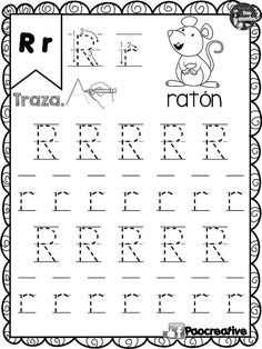 Handwriting Worksheets For Kids, Alphabet Tracing Worksheets, Kindergarten Math Worksheets, Tracing Letters, Alphabet Activities, Infant Activities, Preschool Activities, Kids Education, Kids Learning