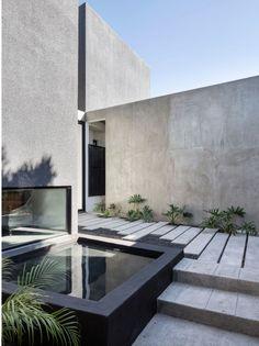landscape pool stair concrete