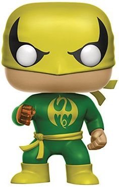 Wearing his classic Iron fist outfit Marvel Comics' Kung-Fu master joins Funko fan-favorite pop! vinyl figure line with this new figure! standing 3 tall Iron fist sports the urban stylized des. Funko Pop Marvel, Marvel Fan, Marvel Comics, Pop Vinyl Figures, Funko Pop Figures, Iron Fist Marvel, Green Costumes, Defenders Marvel, Funko Toys