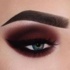 Red smokey eye @bambiborg #makeup #makeupideas #beauty...