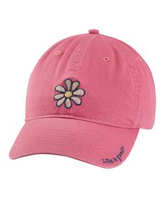 Take a look at this Dusty Pink Daisy Chill Baseball Cap - Women by Life is good® on #zulily today!