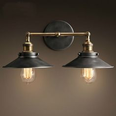American Country Retro Indoor Wall Light 2 Head Iron Wall Lamp For Reading Ikea Mirrored Bathroom Cabinet Sconce 110 220V Modern