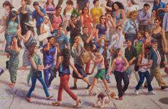 Crowd Study_2014 Oil on Linen, 21x 32