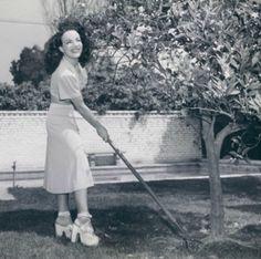 Oh sure, we all dress like Carmen Miranda to do our yard work!