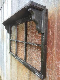 Window Frame Decor, Old Window Frames, Window Shelves, Wall Decor, Old Window Ideas, Old Window Headboard, Window Pane Picture Frame, Window Panes, Wood Picture Frames