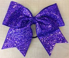Purple Sparkle Bow , $15.00 #competition #hairbow #dance
