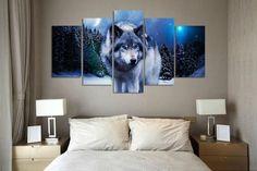 Limited Edition Wolf Serenity 5-Piece Canvas Painting    https://dharma-vibes.myshopify.com/?utm_source=facebook&utm_medium=remarketing&utm_campaign=Retargetapp.com
