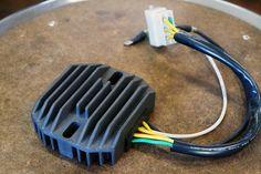 Motorcycle wiring: the regulator/rectifier.