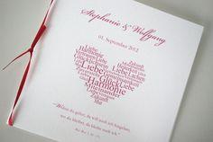 Kirchenheft - Pink Herzklopfen von Kreative Papeterie für Hochzeit, Geburt und Geburtstag! auf DaWanda.com
