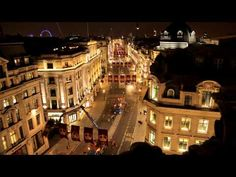 Regent Street, London revealed a spectacular display of purple and gold flags in celebration of the Anniversary of the Coronation of Queen Elizabeth II. Crown Estate, Queen's Coronation, West End, World Famous, Queen Elizabeth Ii, Movies Showing, Flags, London