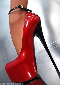 MADE IN ITALY UNIQUE SEXY ANCLE STRAP HIGH HEELS CR5 PUMPS DAMEN SCHUHE LEDER