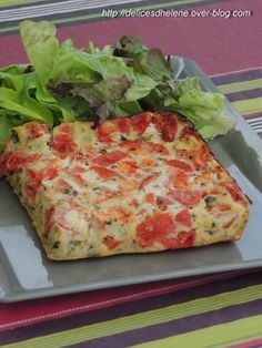 I have a late pack of recipes but this one, with the beautiful days coming up has quite its place here. A simple idea with tomato and perfect for the whole family, accompanied by a nice green salad (according to an idea found on … - Ww Recipes, Veggie Recipes, Summer Recipes, Cooking Recipes, Healthy Recipes, Ricotta, Tapas, Love Food, Entrees