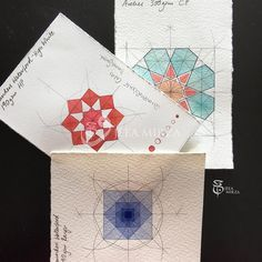 410 vind-ik-leuks, 8 reacties - Jeea Mirza (@jeeamirza) op Instagram: 'More Geometry doodles...as I continue to test the paper samples I received from…'