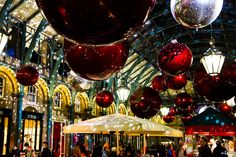 Covent Garden in England at Christmas
