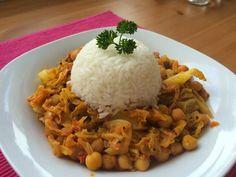 Vegan girl cooks easy !: CHANA SAAG - Cizrna s kapustou a kari kořením