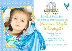 The marvellous Tips Easy To Create Cinderella Birthday Invitations Looking Design For Create Easy Cinderella Birthday Invitations Printable One Year Birthday, 1st Birthday Girls, Birthday Celebration, Birthday Parties, Girl Parties, Birthday Bash, Birthday Ideas, Cinderella Birthday, Princess Birthday