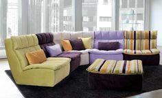 Divani angolari per la casa - Divano colorato e comodo
