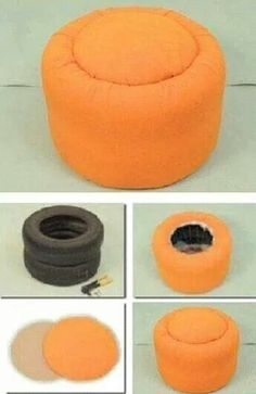 Making this for my daughters.   #tire #chair #kids room
