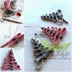 These DIY Ribbon Bead Christmas Tree Ornaments Are Really Easy And Fun To  Make. They Are Nice And Adorable Ornaments Which Can Be Hung On The Wall . Design Inspirations