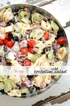 This Cold Tortellini Salad is always the hit of the party. An easy dish to make and can be customized to your own tastes. Perfect for Christmas OR BBQ's. Cold Tortellini Pasta Salad Recipe Betsylife betsylife Favorite Recipes This Cold Tortellini S Easy Salads, Summer Salads, Pasta Dishes, Food Dishes, Pasta Salad With Tortellini, Plat Simple, Pasta Salad Recipes, Side Dishes Easy, Soup And Salad