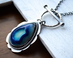 Stunning Blue Druzy Necklace by EON Design on Etsy